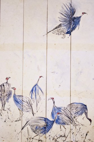 Christine Seifert, Guinea Fowl (Quadtriptych) (Hungerford Gallery)