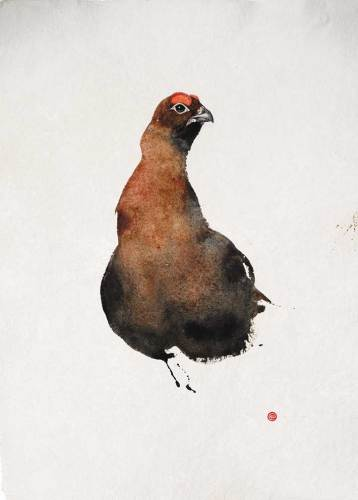 Karl Martens, Red Grouse II (Unframed) (Hungerford Gallery)