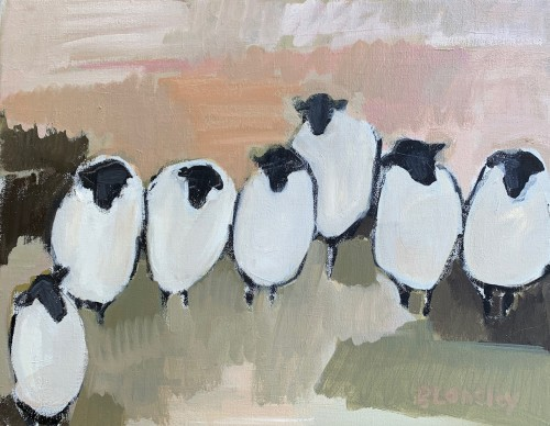Bridget Lansley, The Gathering (Hungerford Gallery)