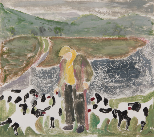 Dione Verulam, One Man and his Dogs I (Hungerford Gallery)