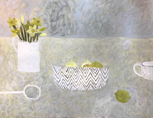 Sarah Bowman, Daffodils and Lemons II (Hungerford Gallery)