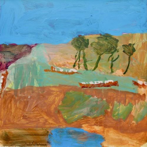 David Pearce, Narrowboats Turning (London Gallery)