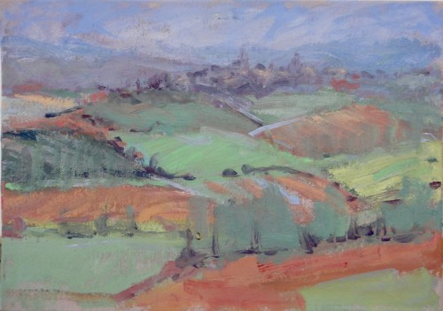 Hermione Owen, Hill Village France (Hungerford Gallery)