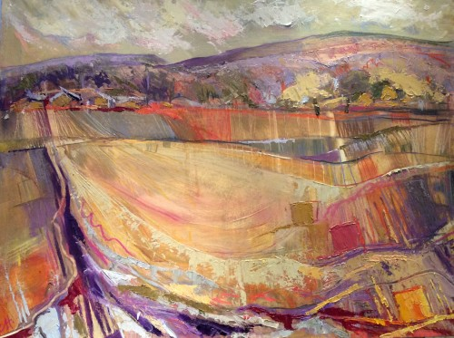 Emma Haggas, Cornfields at Collingbourne (Hungerford Gallery)