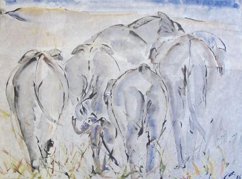 Christine Seifert, Elephants (Hungerford Gallery)