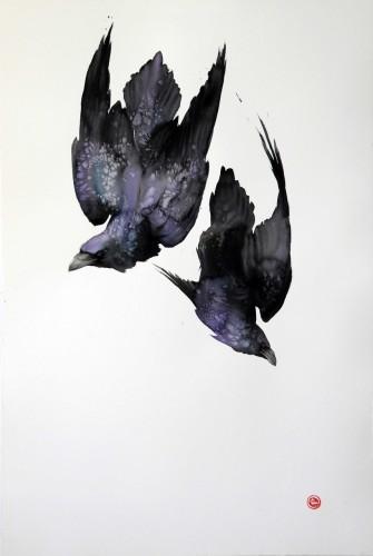 Karl Martens, Ravens III (Unframed) (Hungerford Gallery)