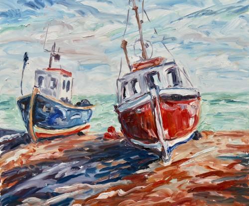 Fi Katzler, Fishing Boats (Hungerford Gallery)