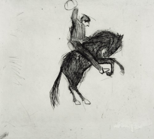 Kate Boxer, Bucking Bronco (Mounted)