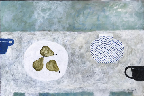 Sarah Bowman, Three Pears, Blue Cup (London Gallery)