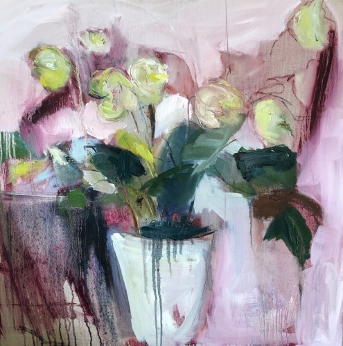 Jo Vollers, Hellebores (Hungerford Gallery)