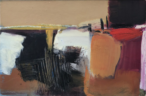 Dafila Scott, Abstract with Red (London Gallery)