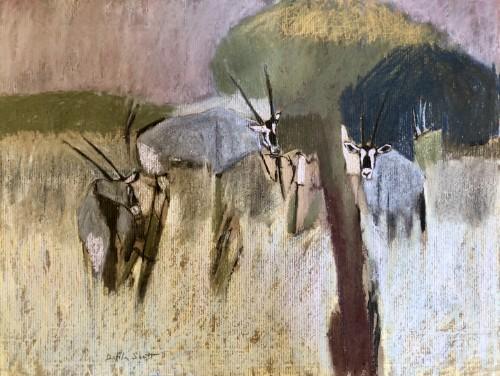 Dafila Scott, Gemsbok Browsing (London Gallery)