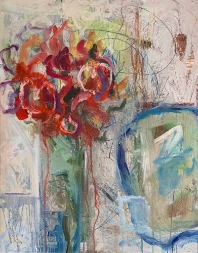 Annie Field, Red Flowers (Hungerford Gallery)