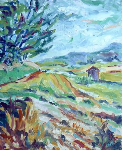 Fi Katzler, Melon Fields, Cabanon, Provence (Hungerford Gallery)