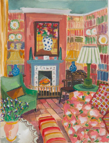 Lottie Cole, Interior with Irises (London Gallery)