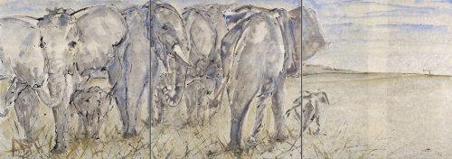 Christine Seifert, Elephant Herd (Triptych) (Hungerford Gallery)