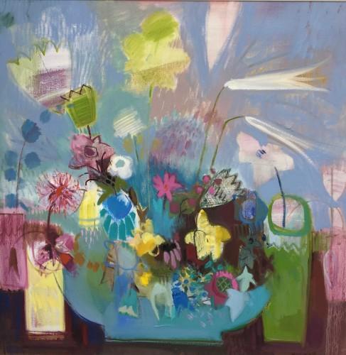 Annabel Fairfax, Pastel Flowers (Hungerford Gallery)