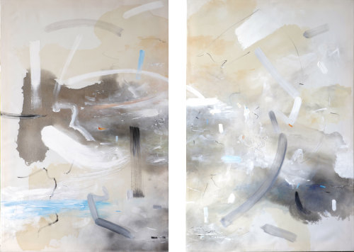 Bob Aldous, Diptych - A Bridge between East and West (Hungerford Gallery)