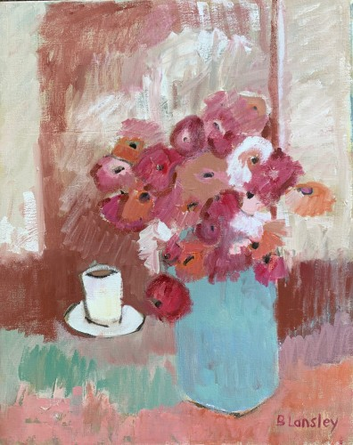 Bridget Lansley, Blaze of Flowers (London Gallery)