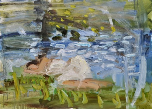 Richard Colson, Sleeping by a Stream (Hungerford Gallery)