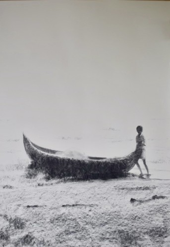 Clare Granger, Boy with Fishing Boat (Hungerford Gallery)