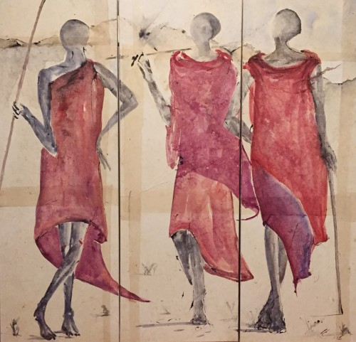 Christine Seifert, Maasai Triptych (Hungerford Gallery)