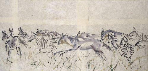 Christine Seifert, Wildebeest and Zebra (London Gallery)