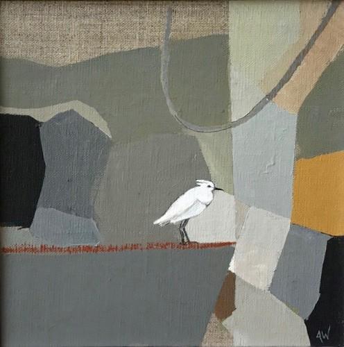 Angela Wilson, Egret on a Wire II