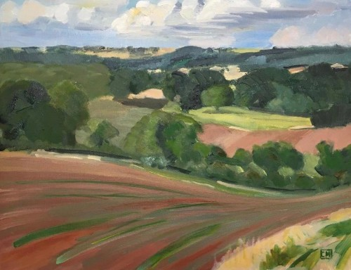 Celia Montague, Windy afternoon in the Cotswolds (Hungerford Gallery)