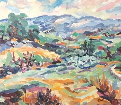 Fi Katzler, Aquaduct and Fields, Mont Robert (Hungerford Gallery)