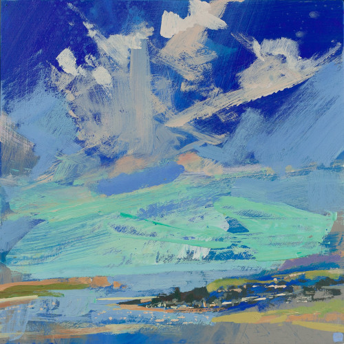 Andrew Jago, Camel Estuary from a Hill (Hungerford Gallery)