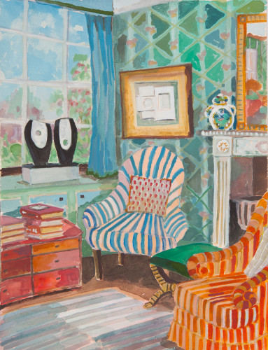 Lottie Cole, Interior with Barbara Hepworth (Hungerford Gallery)