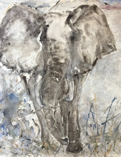 Christine Seifert, Elephant (Framed) (London Gallery)