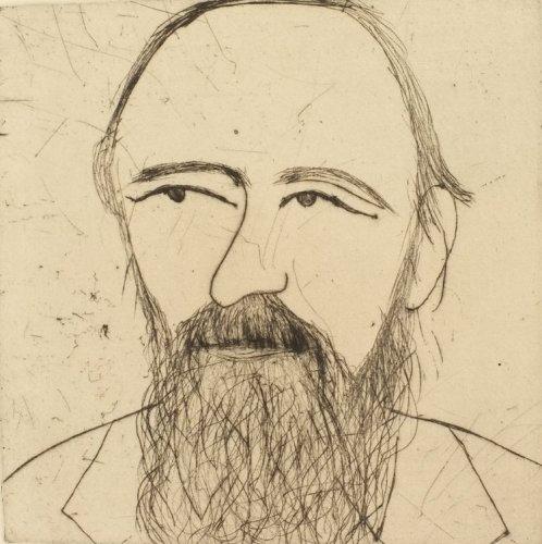 Kate Boxer, Fyodor Dostoevsky (Mounted)