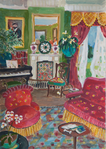 Lottie Cole, The Drawing Room of Windy Corner (London Gallery)