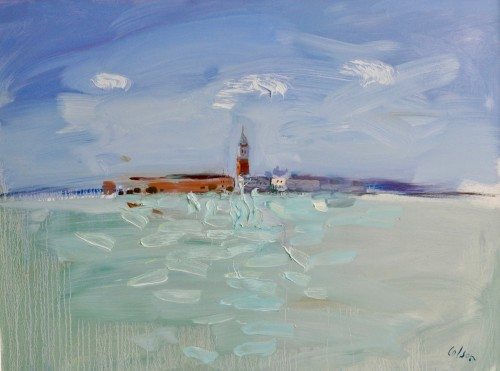 Richard Colson, The Campanile, Venice from Giudecca I (London Gallery)
