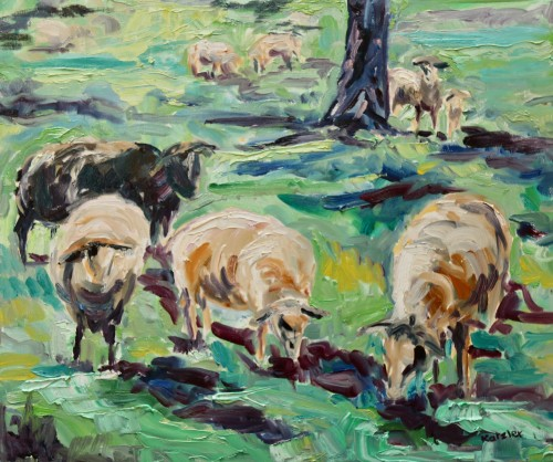 Fi Katzler, Black Sheep (Hungerford Gallery)