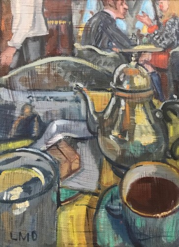 Lucy Dickens, Coffee at The Ritz, Still Life (Hungerford Gallery)