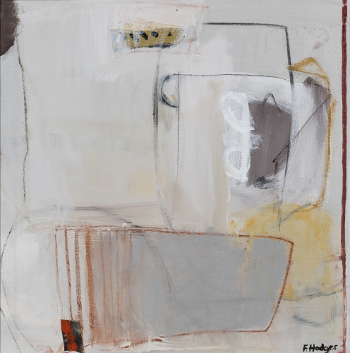 Felice Hodges, Still Life: Cinnabar and Off White