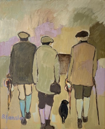 Bridget Lansley, Friends (Hungerford Gallery)