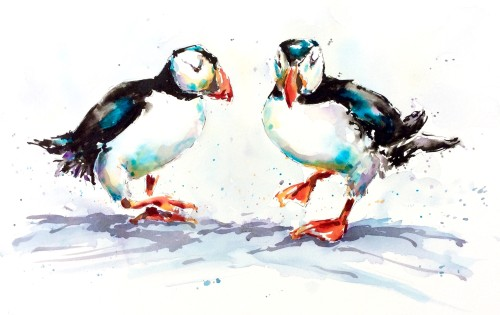 Julia Cassels, Puffin Stop (Hungerford Gallery)