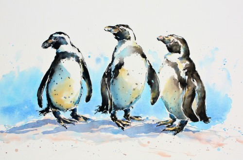 Julia Cassels, Three Wise Penguins (Hungerford Gallery)