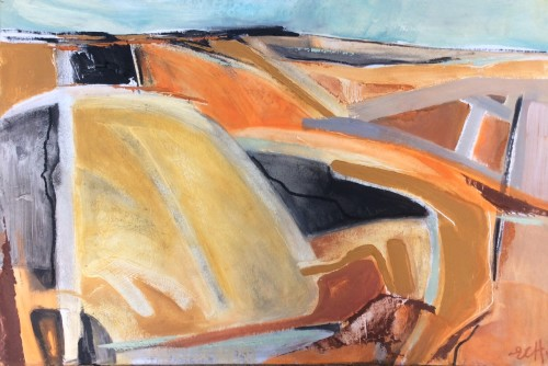 Emma Haggas, Abstract in Rust (Hungerford Gallery)