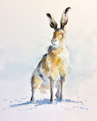 Julia Cassels, Wintery Hare (Hungerford Gallery)