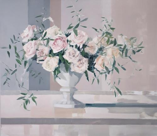 Myles Oxenford, Garden Roses & Jasmine (Hungerford Gallery)