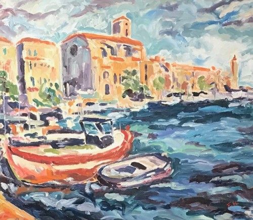 Fi Katzler, Boats at La Ciotat (London Gallery)