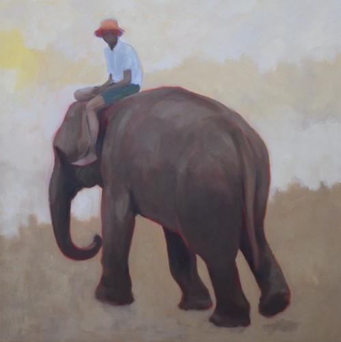 Clare Granger, Elephant and Boy (London Gallery)