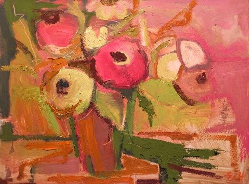 Emma Haggas, Flowers in a Terracotta Pot (Hungerford Gallery)
