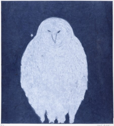 Kate Boxer, Owl - Night (Mounted)