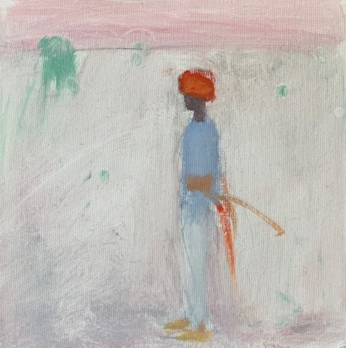 Ann Shrager, Young Boy with Red Turban and Sword (Hungerford Gallery)